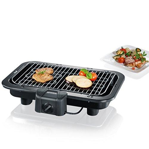 SEVERIN PG 2790 Barbecue-Grill 2500W Tischgrill Grillfläche 41 x 26cm schwarz