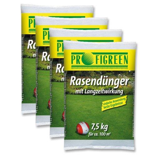 30 kg Rasendünger mit Langzeitwirkung 4 x 75 kg-Vorteilspack mineralisch oganisch