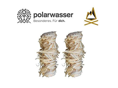 Polarwasser - 10kg Bio Anzünder aus Holzwolle und natürlichem Wachs - Kamin Ofen Grill Kohle Brennholz Anzündkamin Holz Anzünder 10000g