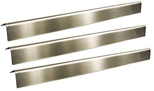 3 x Edelstahl Aromaschienen Grillclub für Weber Spirit 200 210 ab 2013387 x 88Regler Vorn  Gasgrill Flammenverteiler Brennerabdeckung