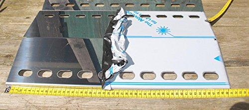 Manufaktur Stollenwerk 510mm x 260mm Edelstahl FlammenverteilerFlammenabdeckung  Grillblech – super Ersatzteil für Viele Verschiedene Gasgrills 510-260-1