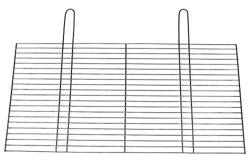 BitWa 67x40cm Grillrost mit zwei festen Handgriffen Grillkamin Kamin Gartengrill für Buschbeck Holzkohlegrill oder Gasgrill 670x 400 mm