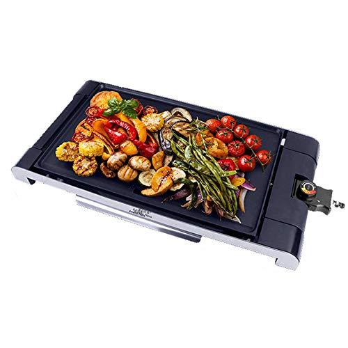 Elektro-Grill Multi-Funktions-Antihaft-Elektro-Backen-Wannen Smokeless Barbecue Haushalt Grillplatte Fett- Und Gesunder Grill Tragbares Schwarz 1500W