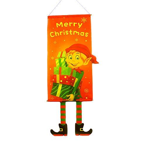 Mitlfuny Weihnachtsdekoration-FahneFlaggeGartenfahne Eihnachtsgarten Flagge Santa Flag Set Home Garden Deko Weihnachts Flagge FüR Garten Balkon