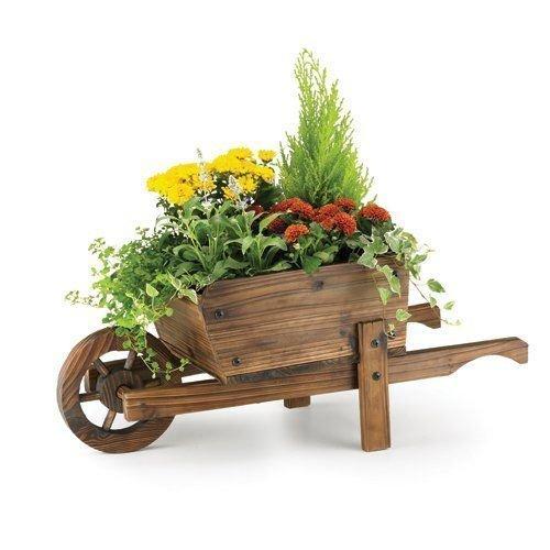 Rustic Garden Supplies BAR5B Deko-Pflanzkasten in Form eines Schubkarrens