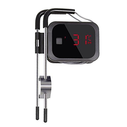 Inkbird BBQ IBT-2X Bluetooth Barbecue Fleischthermometer Bratenthermometer Fleisch Smoker Thermometer Timer mit TemperaturalarmApp für Android 44  top iOS 7