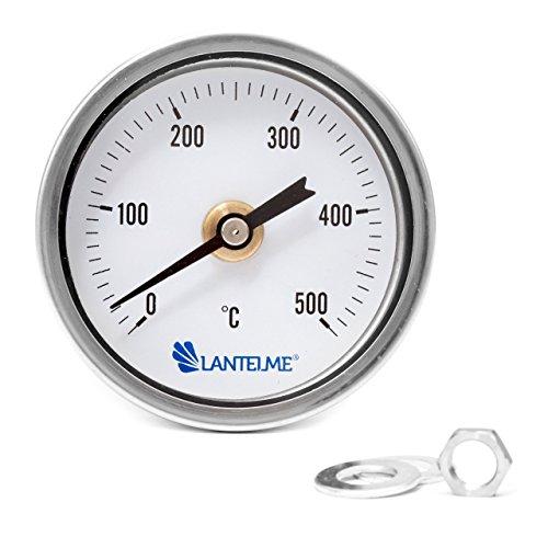 Lantelme 500 °C Grad BackofenOfen  GrillTandur  SmokerRäucher Thermometer Analog und Bimetall