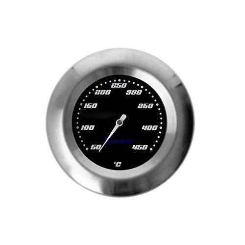 Lantelme Thermometer für GrillSmoker  RäucherofenGrillwagen AnalogBimetall  Edelstahl BBQ Grillzubehör Modell Racing Black Edition