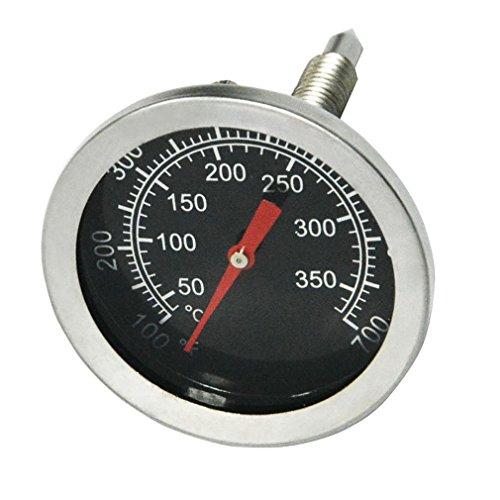 Onlyfire Edelstahl Grillthermometer bis 350°C700°F Thermometer für alle Holzkohlegrill Grills Ofen Smoker Räucherofen und Grillwagen analog Grillzubehör Anzeige Celsius und Fahrenheit