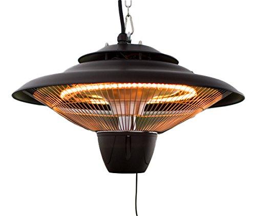 Firefly 1500 Watt Infrarot-Heizstrahler Halogen Terrassenheizung Deckenmontage Schwarz