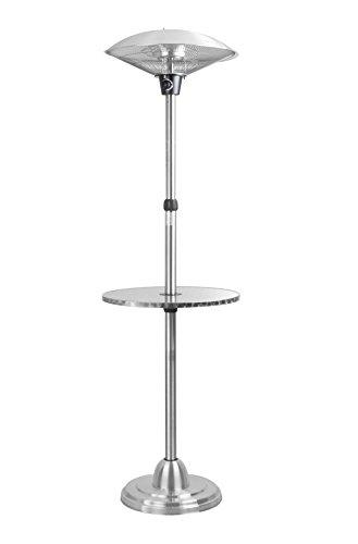 Firefly 2100 Watt Infrarot-Heizstrahler Halogen Terrassenheizung freistehend 3 Leistungsstufen inkl Tisch