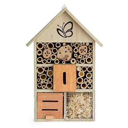 Insektenhotel 40 x 22 x 8 cm  Nistkasten Insektenhaus Bienen Insekten Marienkäfer