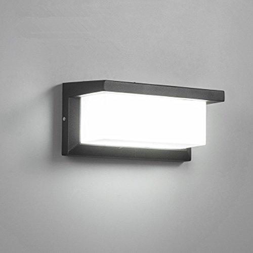 Glighone LED Wandleuchte Außen Außenbeleuchtung Außenlampe Wand Alu 10W Kaltweiß Rechteck IP54 Wasserdicht 1000LM