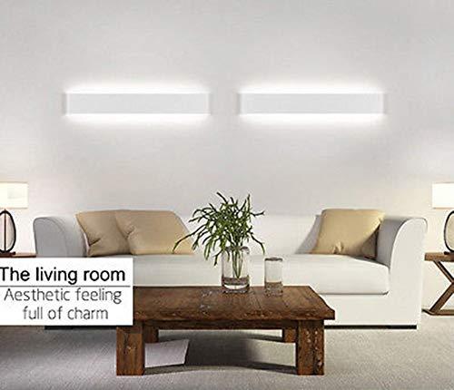 K-Bright LED Spiegellampe Badleuchte16W20 ZollWandleuchte Schranklampe IP44AC 86-265V Make up lichtSpiegellicht für Bild Display Wohnzimmer Flur Schlafzimmer Treppen6000-6500K WeißWeiß Schale