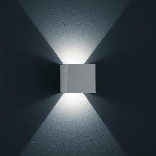 K-Bright LED Wandlampe Weiß Aluminiumgehäuse mit einstellbar Abstrahlwinkel Design NEU 12W Kalt weiß Gips Lampe Leuchte IP 65