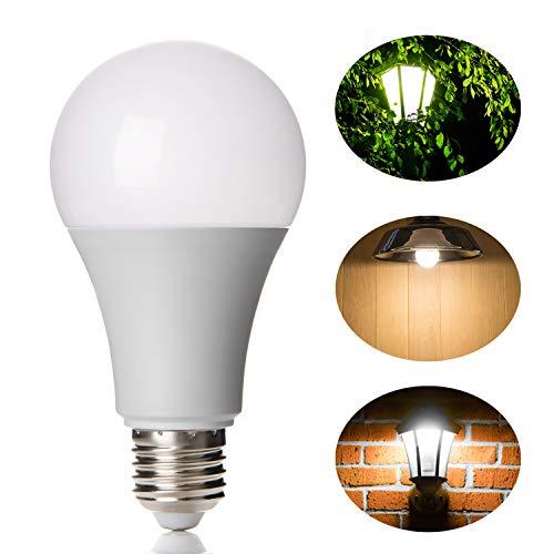Lineway LED Glühbirne mit Bewegungsmelder 12W E27 Radarsensor Birne Weiße 6000K Smart Radarsensor Licht Energiesparlampe für Treppen Kellerabgang Haustür Garten Garage