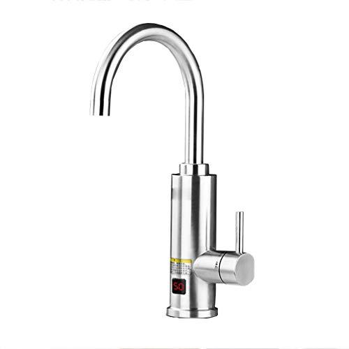 FJNS schnelle elektrische warmwasserbereiter wasserhahn für küche und bad einstellbare leistung elektrischer durchlauferhitzer 360° drehbarer wassereinlass aus edelstahl 220 v 3000whose
