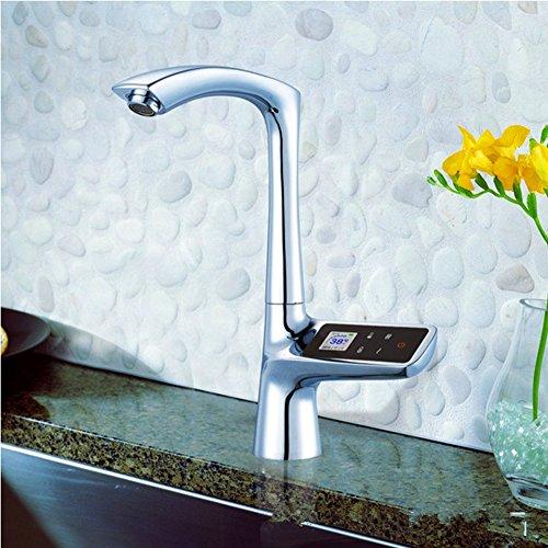 QYJ Intelligente Thermostat Wasserhahn Küche Becken Kupfer Wasserhahn Thermostat Sensor Wasserhahn