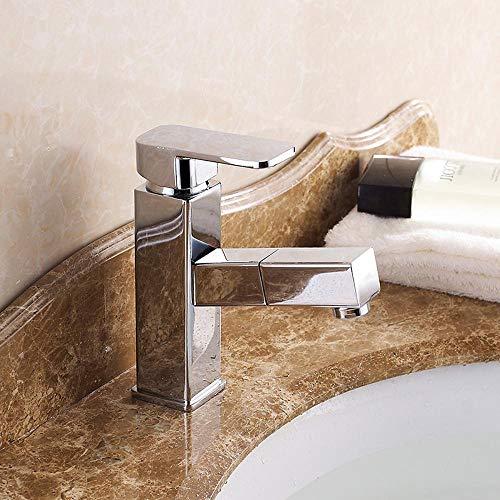 Lxj Wasserhahn-Becken ziehen Sie Hahn Tisch Waschbecken Waschtisch Badezimmerschrank Shampoo heißen und kalten Wasserhahn