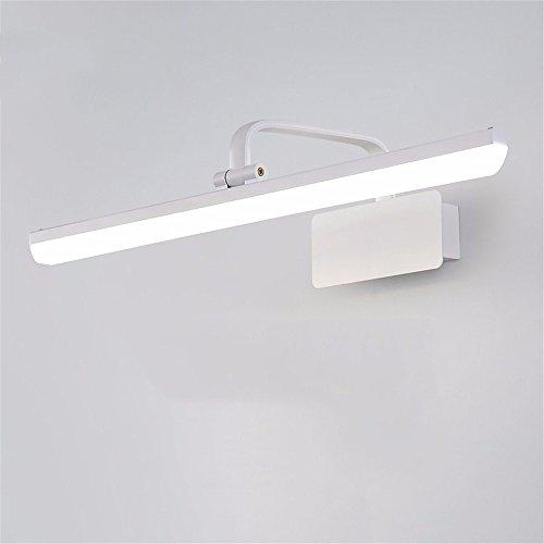GOUZI Wandleuchte Persönlichkeit kreativ Glas Front-LED-schrank Spiegelschrank Waschtisch weiß 42 cm Wandleuchte für Wohnzimmer Schlafzimmer Küche Bad Nacht Flur Eingangsbar