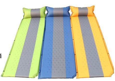 RUNACC Sleeping Pad befestigt Camping Matratze selbstaufblasen Schlafmatten für Familie Kopfkissen grün