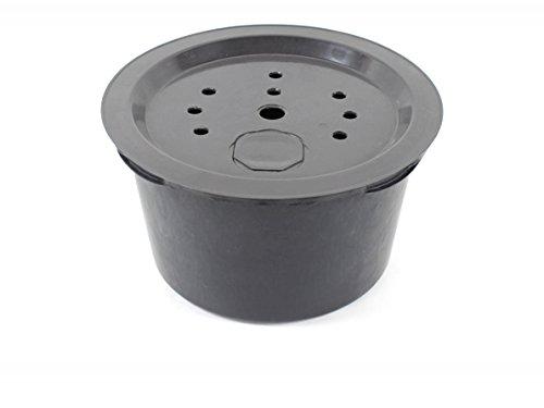 GISPO PE Becken Rund 60 cm Höhe 34 cm Volumen 65 Liter mit GFK Deckel Ø 60 cm