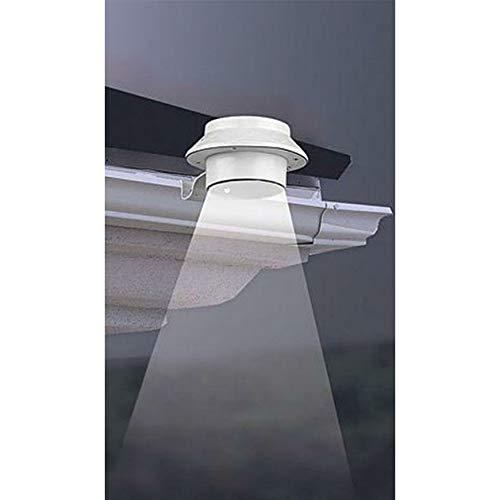 Unbekannt 8 LED-Dachrinnen Solarleuchten mit je 3 LED´s - weiß 6-8 Stunden Leuchtdauer wetterfest inkl Batterie