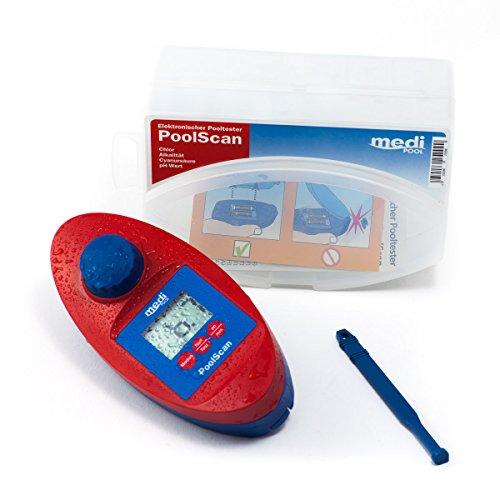 PoolScan - Elektronischer Pooltester für Chlor und pH-Wert Messung von mediPOOL inkl 60 Testtabletten - Poolwasser - Messgerät für den anspruchsvollen privaten Schwimmbad- und Whirlpool Betreiber baugleich mit Scuba II