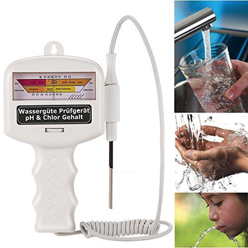 Tomasa Elektronisch Wassertestgerät Wasser Test pH Chlor Elektro Wassertester Wasserqualität Tester Pool Spa SchwimmbadDE Lager