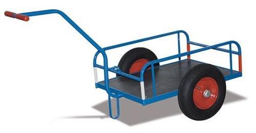 Handwagen ohne Bordwand Traglast kg 400 Ladefläche 1130 x 535 mm RAL 5010 Enzianblau