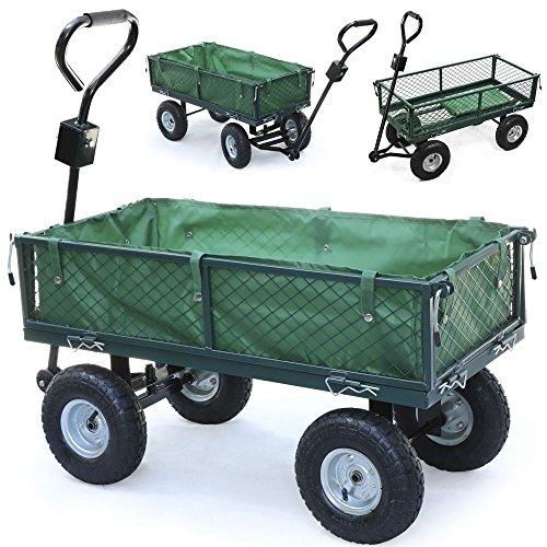 Panana Handwagen mit herausnehmbarer Plane 300kg - Transportkarre Gerätewagen Gartenwagen