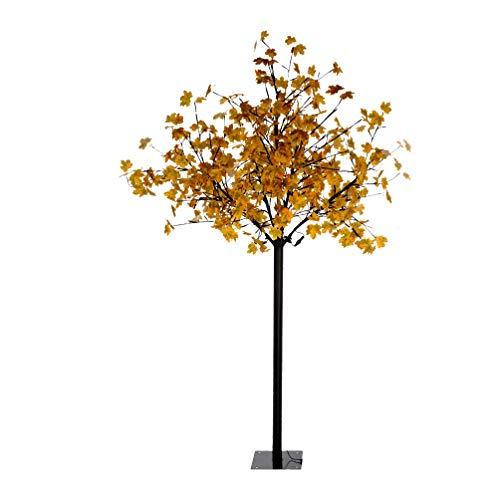 LED-Dekobaum 900 Lumen schwarz Aussen IP 44 Outdoor-LED-Baum 450 LED nur 14 Watt LED-Baum Lichtbaum Höhe 210 cm Terrasse Advent Weihnachten Herbstbaum Garten-Beleuchtung Leuchtbaum