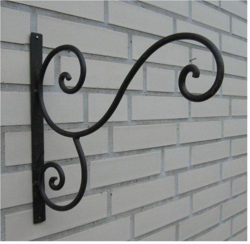 Haken Wandhaken für Blumenampel Metall  Eisen antikbraun ca 30 x 30 cm Landhaus