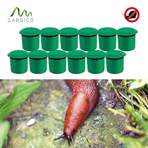 Gardigo Schnecken-Falle 12er Set  Bio Schneckenschutz für den Garten  Umweltfreundliche Schneckenbekämpfung  Deutscher Hersteller
