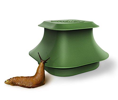 SnailX Schneckenfalle Set - Falle und Lockmittel  Saubere Schneckenbekämpfung  Schneckenschutz für Garten Haus und Hochbeet 80 Weniger Schneckenkorn nötig