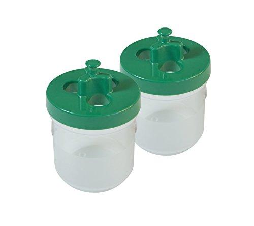 Windhager Schnecken-Falle natürliche Schneckenbekämpfung giftfrei grün 2 Stück 93 x 93 x 148 cm 02433