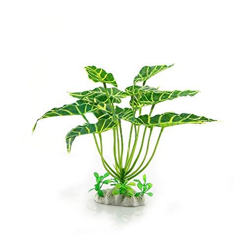 TUANMEIFADONGJI 23 cm Simulation Künstliche Wasserpflanzen Grüne Simulation Aquarium Pflanzen Kreatur Aquarium Landschaft Gras Für Aquarium Dekorationen