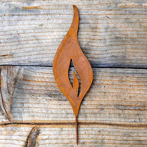 Flamme zum Stecken Stecker Flamme Gartenstecker Rost Deko Gartendeko klein