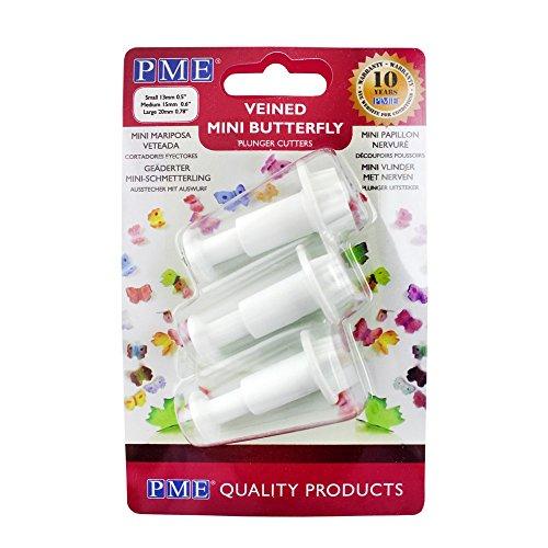PME Mini Schmetterling Plunger Set weiß 3-teilig
