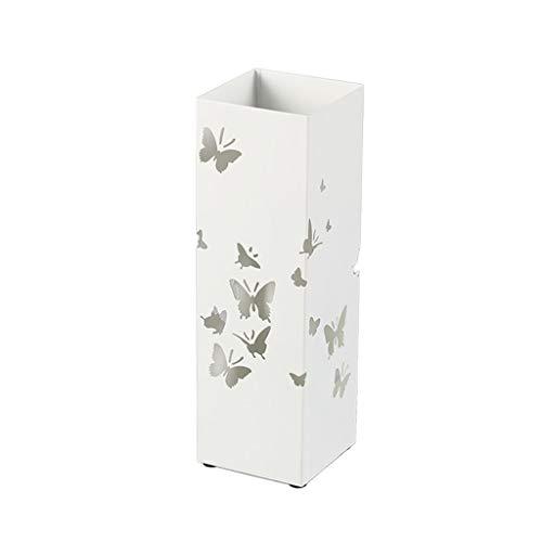 Schirmständer Speichereimer moderner minimalistischer weißer Schmetterling hohler kreativer Schmiedeeisenregenschirmbodenart Regengang Speicherregalregenschirmbehälter