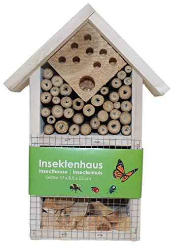 Stolz Insektenhotel Nistkasten Brutkasten für Schmetterlinge Bienen Käfer Weiß