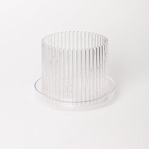 Orchitop M-Set - Design Orchideentopf inkl Untersetzer für alle Orchideen Farbe transparent