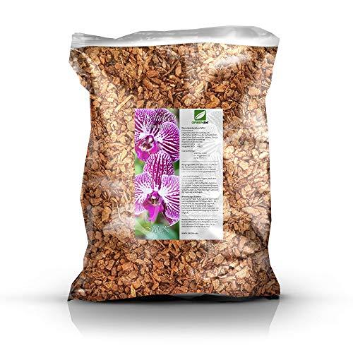 GREEN24 Orchideenerde MK Erde für Orchideen 5 Ltr Premium Profi Linie Substrat Phalaenopsis Cattleya Dendrobium Paphiopedilum Cymbidium etc Mittlere Körnung 5 Liter