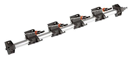 GARDENA combisystem-Gerätehalter Platzsparende Aufbewahrung für Haus- und Gartengeräte passend für GARDENA combisystem-Geräte und -Zubehör Wand-Hakenleiste aus Aluminium 3501-20