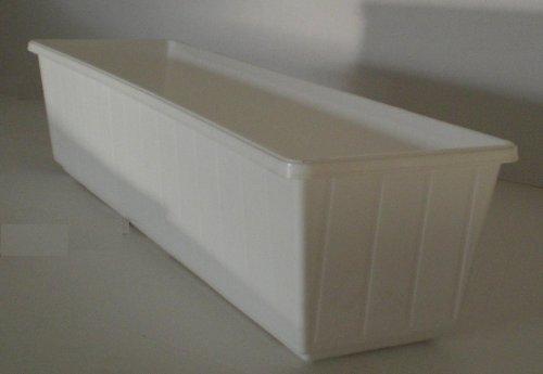 Balkonkasten Blumenkasten Pflanzkasten aus Kunststoff 80 cm Farbe weiß
