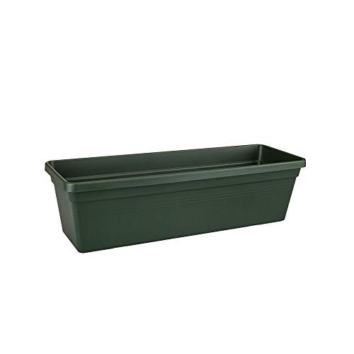 elho green basics balkonkasten 80cm Übertopf - laubgrün