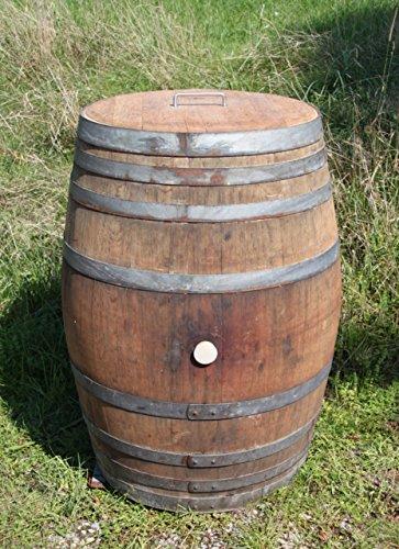 Temesso Regentonne Holzfass Weinfass Barrique Fass aus Eiche Eichenholz -300 Liter Fass geöffnet mit Deckel