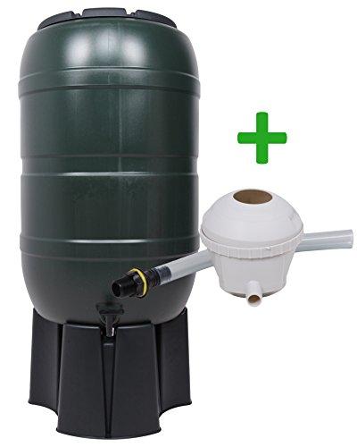 Ondis24 Regentonne 210 Liter Wassertank Regenwasserfass mit Auslaufhahn Ständer und Regendieb de Luxe Füllautomat Inklusive