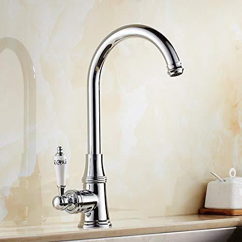 Lxj Wasserhahn Galvanik einloch-heiß und Kaltwasser Küche Wasserhahn schwenkbar Armatur