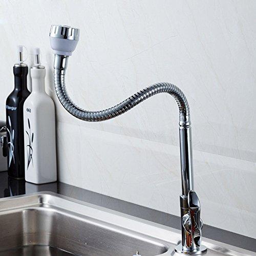 Multi-direktionale biegen Einzelne Kalt Wasserhahn küche waschbecken waschbecken Wasserhahn kaltwasser Drehbar Wasserhahn